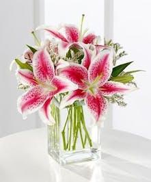 A Valentine Lily Bouquet