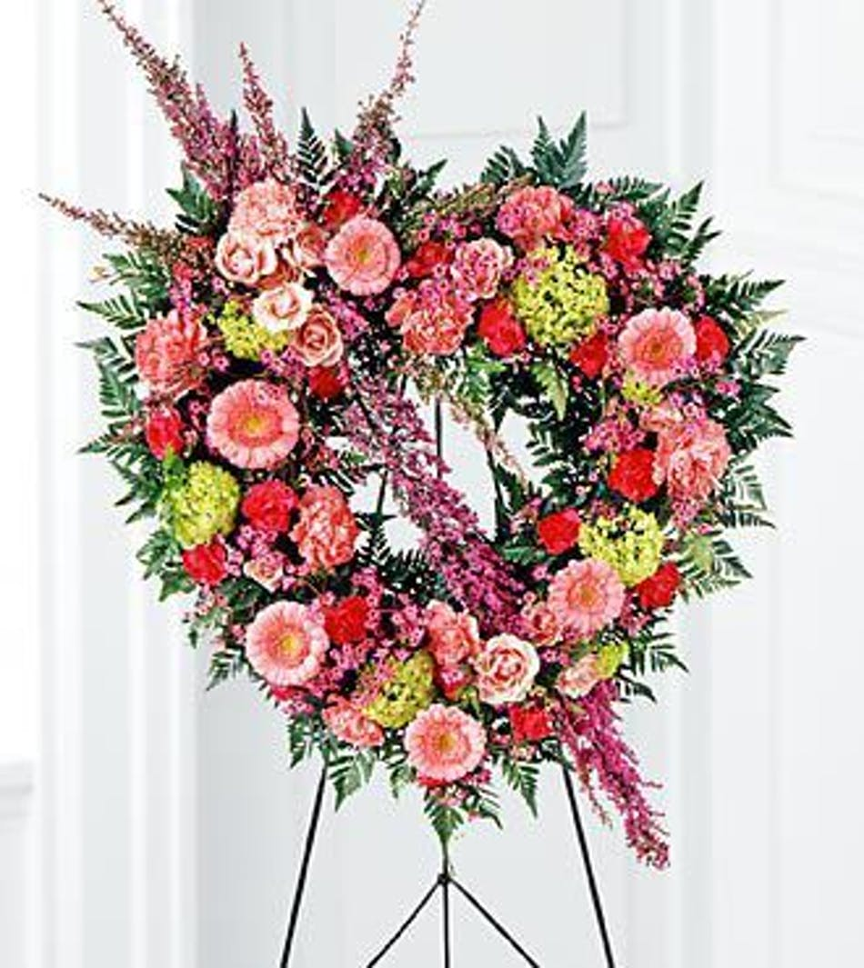 Funeral heart wreath wilmington nc available for nationwide delivery izmirmasajfo