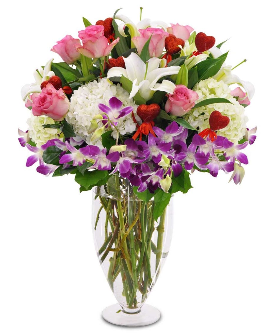 Abundance Of Love Romantic Flower Arrangement Julias Florist