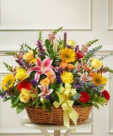 Bright & Brilliant Sympathy Basket