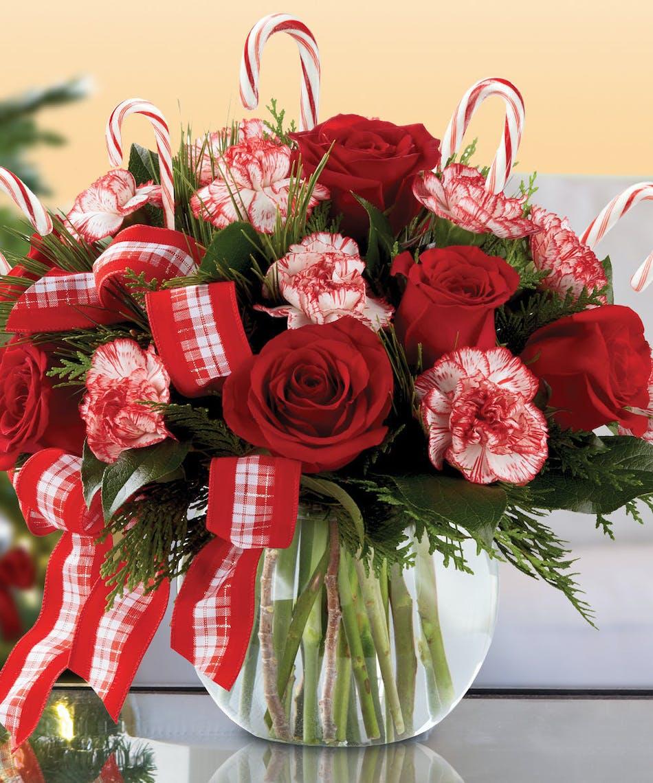 Candy Cane Bowl - Julia\'s Florist Wilmington NC | Best Value Same ...