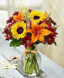 Country Harvest Desktop Vase