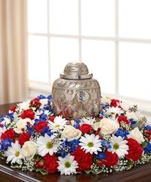 Patriotic Cremation Urn Display