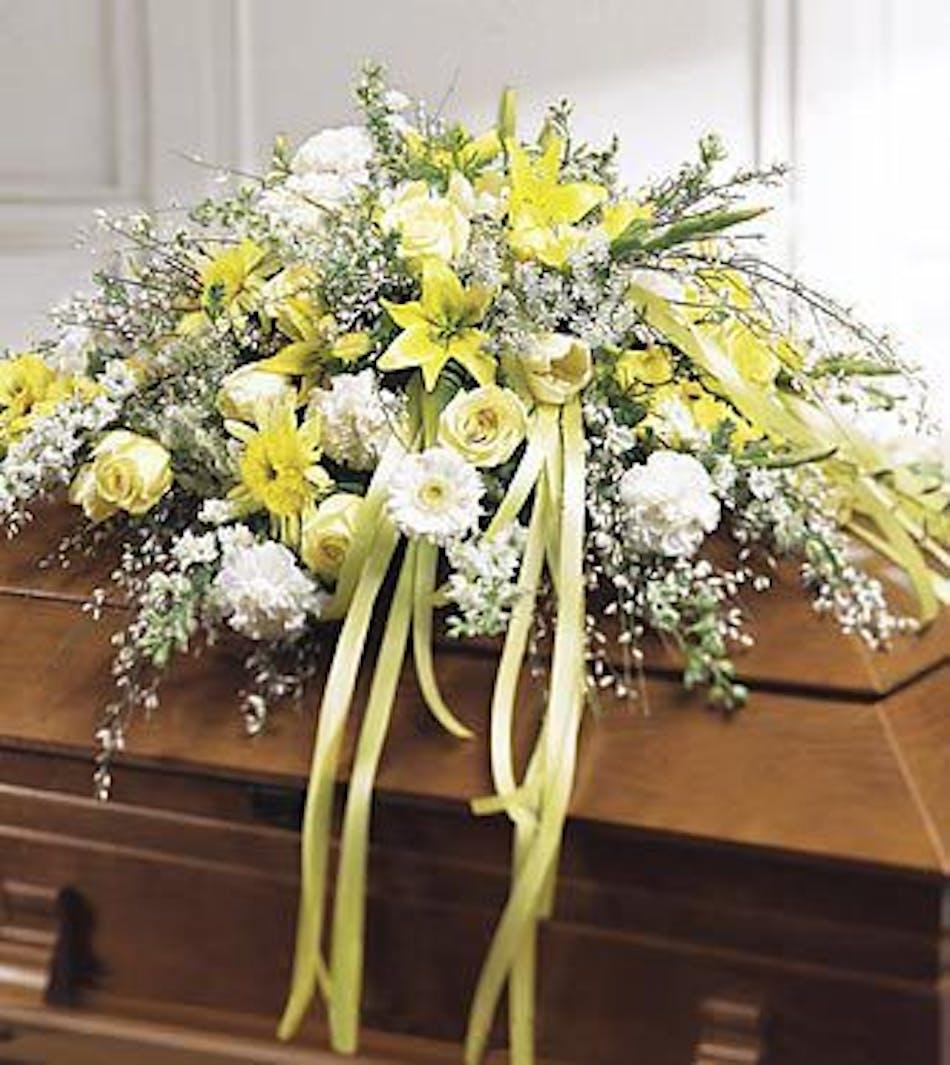 Rest In Peace Casket Spray Wilmington Sympathy Flowers