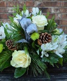 Silver Setting Holiday Centerpiece