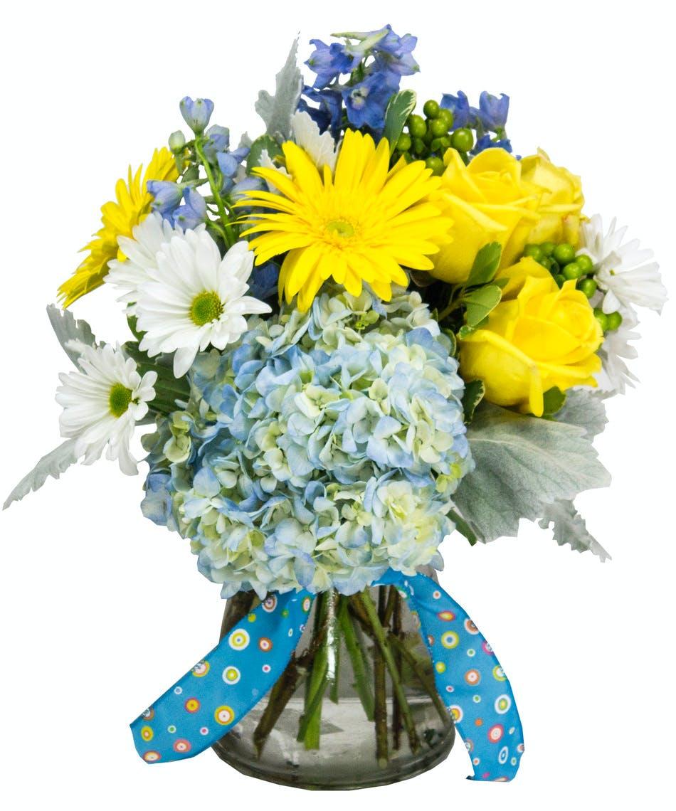Baby Blue New Baby Flowers Julias Florist Wilmington Nc