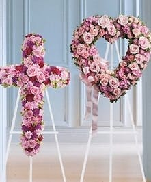 Matching Cross & Heart Display