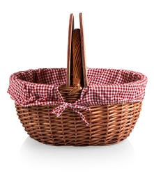 Gingham Country Basket