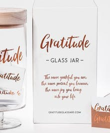 Hand craft gratitude jar