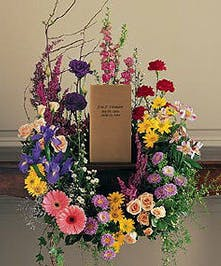 Vibrant spring flower Cremation Urn design