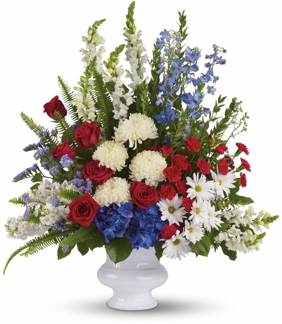 With Distinction Wilmington Nc Patriotic Funeral Flowers
