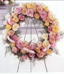 Standing Funeral Wreath with